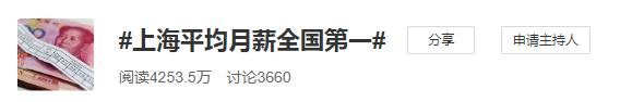 上海平均工资第一