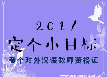 2017小目标 对外汉语教师资格证
